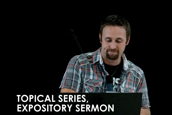Topical series, Expository sermon
